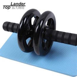 $enCountryForm.capitalKeyWord NZ - Ab Wheel Roller with Mat Knee Kneel Pad Double Wheel Training Rollers Gym Fitness Workout Abdominal Abs Roller
