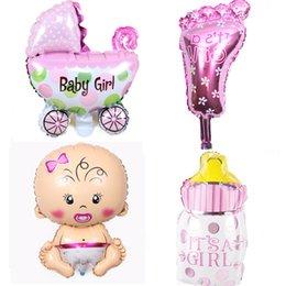 Anjo Baby shower foil balões Meninos Meninas da Festa de Aniversário Recém-nascido Crianças decoração Do Partido air globos azul Rosa mix baloes venda por atacado