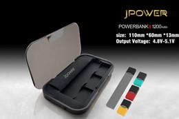 Light Display Case Australia - Jpower Power Bank 1200mah for Juul Vape Pen kit Portable Charging Holder Case 3 Led Light display Micro USB Jpwer Box DHL shipping