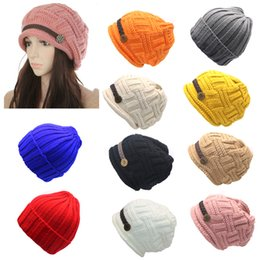 White hats for girls online shopping - Autumn Winter Hat for Women Girls Braided Knitted Hat Cap Skullies Beanies Gorros Solid Color Cute Warmer Bonnet and Cap