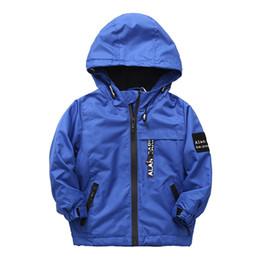 Jacket Waterproof Child UK - Winter Children Jackets Outerwear Polar Fleece Warm Coats Kids Clothes Sport Coat Waterproof Windbreaker For Boys Jackets
