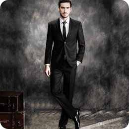 Designing Suits Australia - Latest Coat Pants Designs Black Men Suits For Wedding Man Blazers Jacket Formal Groom Tuxedos 2Piece Gentle Groomsmen Suit Costume Homme