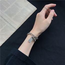 Wholesale best hip hop dressing online – design 2019 Best Selling Men s Hip hop Simple Style Chain Link Bracelet Key Pendant Alloy Dress Jewelry for Boy Friend Fashion Gift Bangles Man