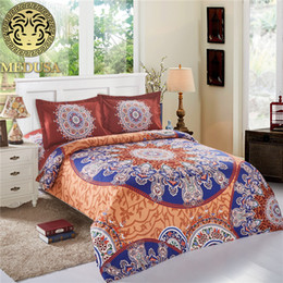 boho bedding 2019 - Medusa medallion boho style exotic bed linen set queen size duvet cover set discount boho bedding