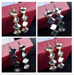$enCountryForm.capitalKeyWord Australia - 2019 Hot sale alloy Multi storey diamond Tassels Earrings black Gold silver Exaggerated Pendant Earrings woman Fashion jewelry