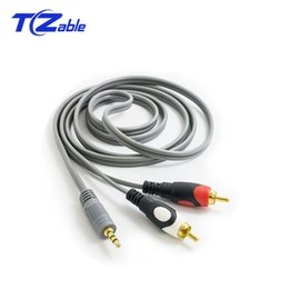 Audio Jack 3.5mm Australia - RCA Cable 2RCA To 3. 5MM Audio Cable Jack Male To Male Cable For Audio Stereo DVD Amplifier TV PC Amplifier DVD Speaker