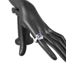 $enCountryForm.capitalKeyWord Australia - Top Quality Princess Blue Gem Created Blue Crystal Silver Color Wedding Finger Crystal Ring Brand Jewelry for Women