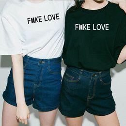 Kpop Print Shirt Australia - Kpop Bts Fake Love Unisex T Shirt Men Woemn Cotton Short Sleeve Korean Love Yourself Bts T-shirt Funny Graphic Printed K-pop Tee Y19042202