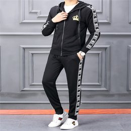 a0c221263bb132 Wholesale Men s winter plus velvet thickening hooded cardigan sweater black  and white suit men s