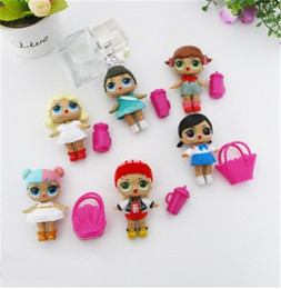 High Quality Plastic Figures Australia - 6Pcs lot LoL Doll with feeding bottle American PVC Action Figure toy High-quality Dolls Baby Tear Open Color LoL Bebek Doll Toys Gift
