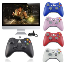 Wireless Pc Controllers Australia - New 2.4g wireless bluetooth game controller PC360 with receiver XBOX360 PC PS3 universal vibration mode DHL