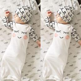 Infant Sleepwear Summer Australia - Cut Newborn Baby Clothes Sleepy Eyes+Rosy Cheeks Baby Gown Hat Infant Newborn Coming Home Sleepwear Sleeping Bags