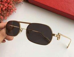 $enCountryForm.capitalKeyWord Australia - Women Retro Sunglasses 00356 Gold  smoke Grey Lens Luxury Designer Sun glasses Shades Brand Glasses Top Quality UV400 Protection