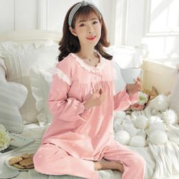 2944e8db1d33b 2018 Maternity Clothes Maternity Pajamas 2pcs Sets Breastfeeding Sleepwear  Cotton long sleeves Nursing Clothes Pregnant Homewear