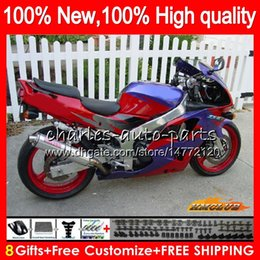 kawasaki zx6r 95 96 97 UK - Bodys For KAWASAKI ZX636 ZX 6 R 6R 1994 1995 1996 1997 94 97 50HC.105 red blue new ZX-6R ZX600 ZX 636 600CC ZX-636 ZX6R 94 95 96 97 Fairing