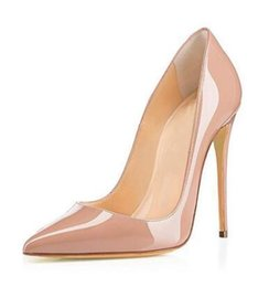 Yellow Gold High Heels NZ - Shoes Hot selling!Sexy pointed toe high heel pumps for women Ladies'nude black pink gold white solid shallow high heels Dress