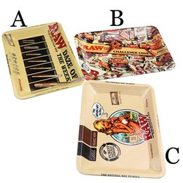Beautiful girl case online shopping - 3 Styles RAW Rolling Tray Metal Tobacco x125mm Handroller Roll Tin Sexy Beautiful Girl Lady Case Plate Cigarette Storage Smoking DHL