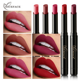 Lipstick Lasts Australia - NICEFACE 16 Colors Matte Lipstick for Lips Waterproof Long Lasting Nourishing Lipstick Tint Nude Cosmetics Lipstic Makeup