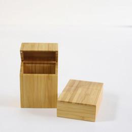 $enCountryForm.capitalKeyWord Australia - Newest Bamboo Storage Box Cigarette Cases Magnet Cover Portable Innovative Design High Quality Smoking Tool Accessories Hot Cake DHL Free