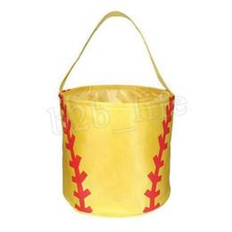 755f1f68f Cesta de basquete de beisebol futebol basquete basquete de beisebol do  futebol softball balde saco de armazenamento crianças doces cesta bolsa 100  pcs ...