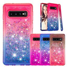 Diamond Floats Australia - Gradient Liquid Quicksand Floating Bling Diamond Soft TPU Case For iPhone XR XS Max X 8 7 6 Samsung S8 S9 S10 Plus S10e J4 J6 2018 Note 9