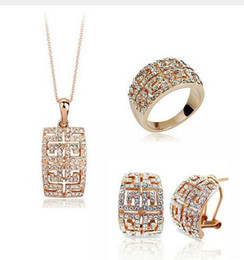 $enCountryForm.capitalKeyWord Australia - 2018 New Design Hot Sale gold-color Austria Crystal Jewelry Set For Women