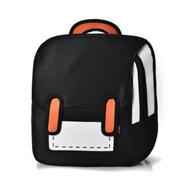 f9122dad80 Fashion Backpack Cute Student School Bags Women Bagpack 3D Jump Style Zaino  2D Drawing Cartoon Back Bag Comic Unisex Knapsack