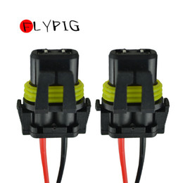 connector harness NZ - 2pcs 9005 HB3 H10 9006 HB4 Bulb Sockets Female Adapter Wiring Harness Connector for Headlight Fog Light 2 pin
