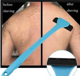 Back Hair Men Australia - Plastic Manual Back Hair Shaver Remover Long Handle Razor Men Shaving All Body Parts Hair Blade Remover D0157