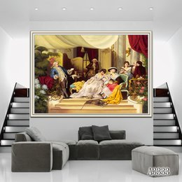 Oil canvas peOple online shopping - ZYXIAO Poster and Print Performing people castle palace modern Oil Painting Canvas No Frame Wall Pictures for Living Room Home Decor A3333