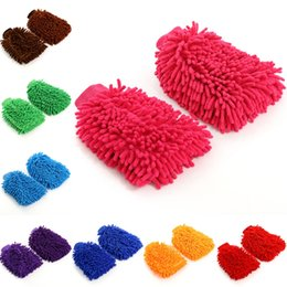 $enCountryForm.capitalKeyWord Australia - 8 Colors Chenille Microfiber Premium Car Wash Mitt with Sponge,Lint Scratch Free-Ultra Soft Cleaning Gloves Double Sided Glove Tools M126F