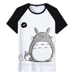 f284ef642b7a6 ToToro TshirT online shopping - Harajuku Tshirt Women Anime Totoro Kawaii  Tops Femininas Summer Tops Patchwork