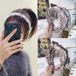 $enCountryForm.capitalKeyWord Australia - New High-end Boutique Hair Accessories Korean Version Women's Pearl Headband Hairband Bow Knot Cross Fabric Hair Band Hoop Accessories