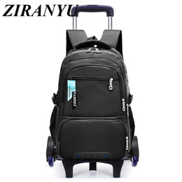 $enCountryForm.capitalKeyWord NZ - Children School Bags Removable Boys Girls large capacity Trolley Backpack 6 Wheels Child Climb Stair Kids Rolling Backpacks