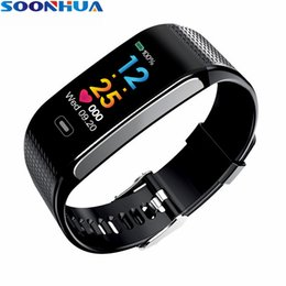 Touch Screen Lcd Color Monitor Australia - SOONHUA Color LCD Screen Full Touch Smart Wristband Waterpfoof Bracelet Sports Band Call Reminder Sleep Monitor For IOS Android