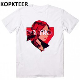 cool clothing red NZ - Red Hair Cool Girl Design Harajuku Summer Fashion Camisetas Hombre Funny Anime Shirt Mens Clothes 2019 T Shirt Gothic Tees