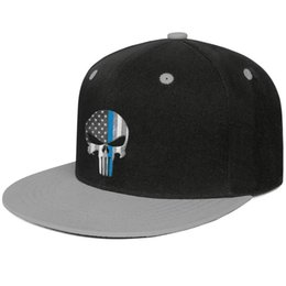 newest e507d 6fe99 Womens Mens Plain Adjustable Punisher Thin Blue Line Flag Hip Hop Cotton  Tennis Cap Bucket Sun Hats Cadet Army Caps Airy Mesh Hats For Men W