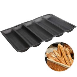silicone bread mat NZ - Silicone Baguette Pan - Non-Stick Perforated Fench Bread Pan Forms , Hot Dog Molds , Baking Liners Mat Bread Mould
