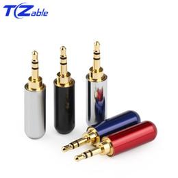 $enCountryForm.capitalKeyWord Australia - 50pcs Hifi Audio Plug 2.5mm 3 4 Pole Headphone adapter Audio Jack Earphone Repair Cable Solder Connector Gold Plug Male Upgraded Wire