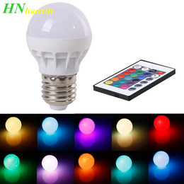 $enCountryForm.capitalKeyWord Australia - HaoXin 3W E27 LED RGB LED Light Bulb with IR Remote Control Pop Lamp Color Changing AC 85-265V 16 colors changing LED Bulbs