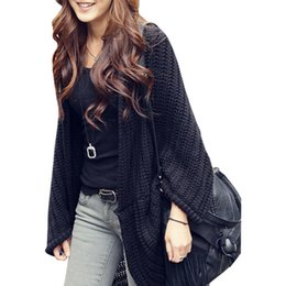 $enCountryForm.capitalKeyWord UK - shawl New Korean cardigan women irregular bat shirt poncho loose jumper big yards long Korean sweater coat vestidos LXJ259