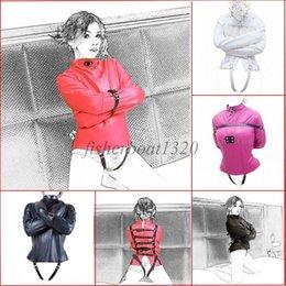 Bondage Halloween Costumes Australia - Hot Restraint Body Harness Straight Jacket Halloween Costume S M L XL Armbinder A876
