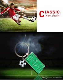 Field Basketball Australia - Football Field Keychain World Cup Soccer Souvenir Gift Ball Players Pendants Key Chains Ring Fans Souvenir Accessory Free DHL G763R A