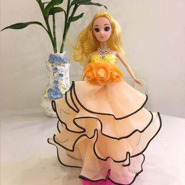 Car Customization NZ - Birthday Gifts 30cm Dolls for Girls Keychain Dolls Children Toys 30cm Princess Dolls with Wedding Dress Car Decoration