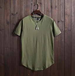 baseball jersey tops Australia - 2019 Fashion Baseball Jerseys Men's ArmyGreen Summer Solid Color T-Shirt Loose Joker Short Sleeve Top