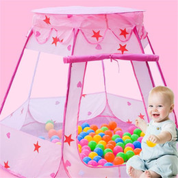 Discount girls sports toys - Kids Ocean Ball Pit Pool Toys Outdoor Indoor Baby Toys Tent Baby Girls Fairy House Play toy Tents SH190907
