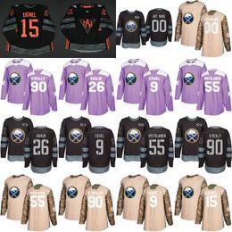26 Rasmus Dahlin XS-6XL Mens Women Youth 9 Jack Eichel 2019 Buffalo Sabres  53 Jeff Skinner Hockey Jerseys Pink Purple Black USA Flag 4367d36fb