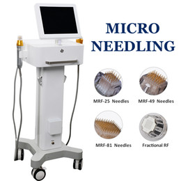 2019 microneedling Vergetures Removal Machine fractionnel RF Face Lift Rides Anti vieillissement Microneedle acné Scar Removal en Solde