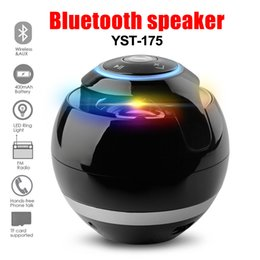 Multicolored Lights Australia - YST-175 multicolored ball bluetooth speaker with light Subwoofer LED Ball Speaker Support FM TF Card