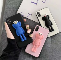 $enCountryForm.capitalKeyWord Australia - New 3D Solid Cute X Kaws Toy Phone Case For iPhone X XS Max XR 6 7 8 6S Plus Cartoon Soft Silicone Couple Phone Cover